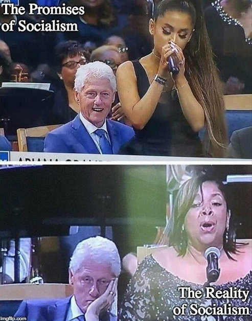 bill-clinton-staring-at-singer-promises-of-socialism-reality-arianda-grande