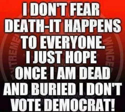 i-dont-fear-death-just-hope-when-buried-dont-come-back-vote-democrat