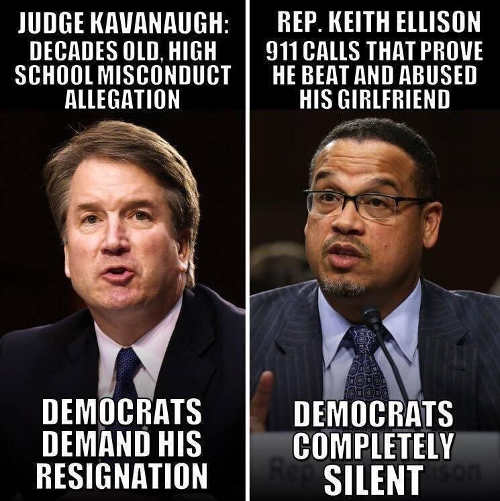 judge-kavanaugh-decades-old-school-allegation-demand-resignation-keith-ellison-911-calls-completely-silent