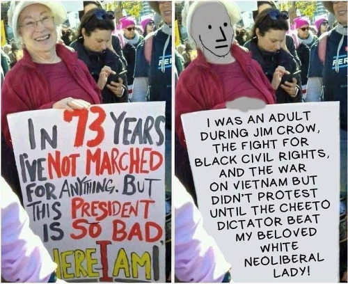 73-years-never-marched-but-trump-not-civil-rights-vietnam-jim-crow-neoliberal-lady