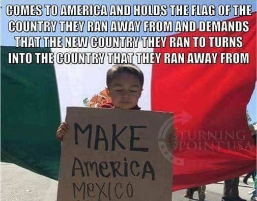 comes-to-america-holds-sign-of-country-they-ran-from-to-make-america-like-mexico