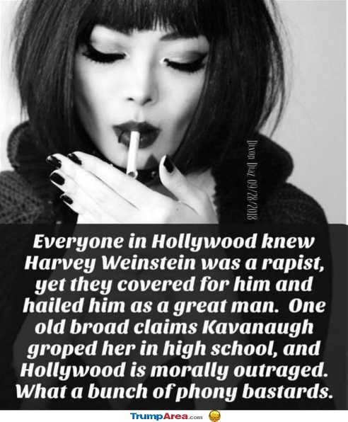 everyone-in-hollywood-knew-weinstein-said-nothing-one-broad-claim-kavanaugh-groped-in-high-school-believe-phony-bastards