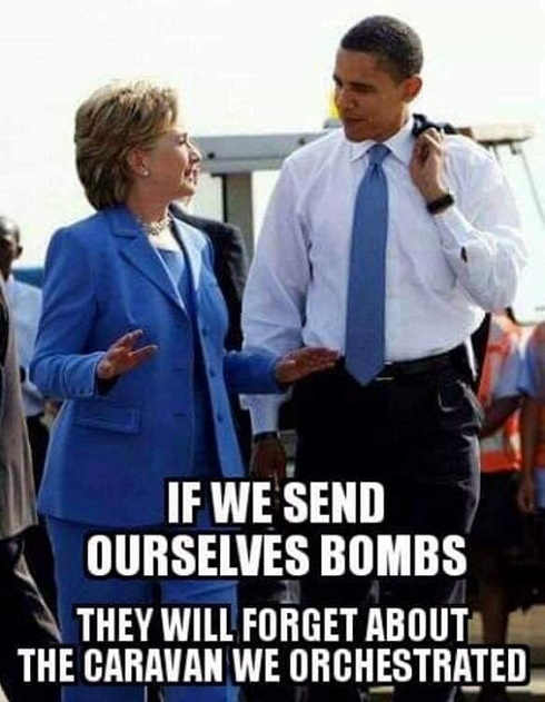 hillary-clinton-barack-obama-if-we-send-ourselves-bombs-they-will-forget-caravan-we-orchestrated.