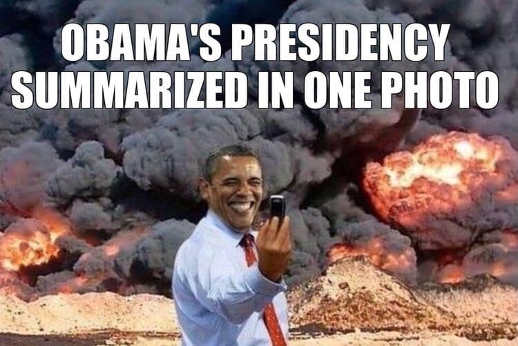 obama-presidency-in-one-picture-burning-taking-selfie