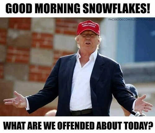 trump-good-morning-snowflakes-what-are-we-offended-by-today