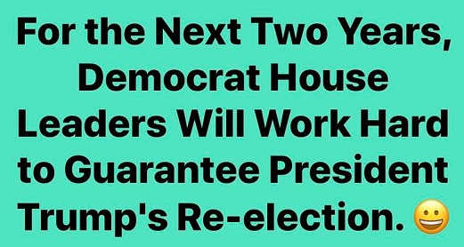 for-next-two-years-house-democrats-will-work-hard-to-guarantee-president-trump-is-re-elected