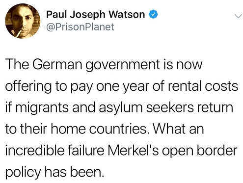 german government offering to pay year of rent if asylum seekers return to home countries