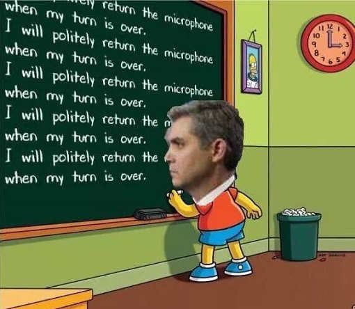 jim-acosta-i-will-politely-return-microphone-when-my-turn-is-over-chalkbard-bart-simpson
