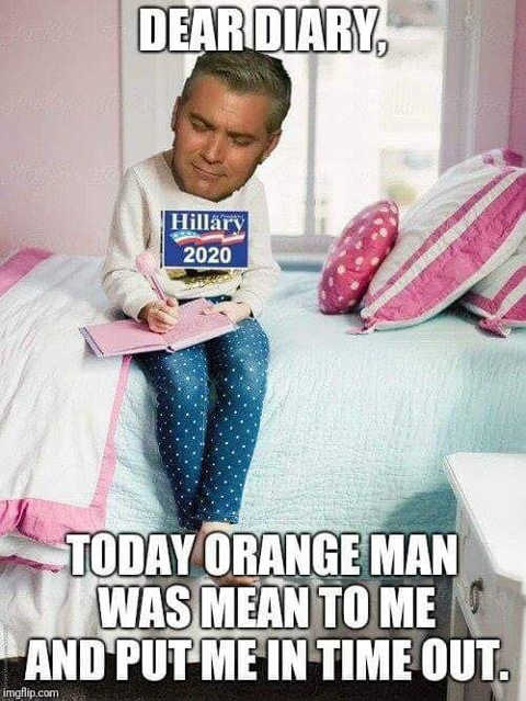 jim-acosta-today-orange-man-mean-to-me-put-me-in-timeout-hillary-cnn