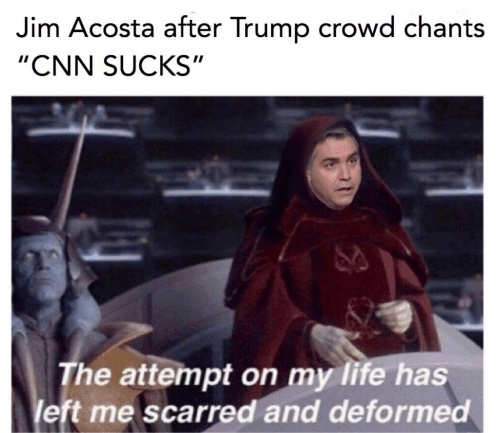 jim-acosta-trump-crowd-chants-cnn-sucks-attempt-on-my-life-left-me-scarred-and-deformed