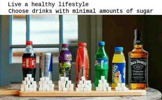 live healthy lifestyle minimize sugar comparison jack daniels zero