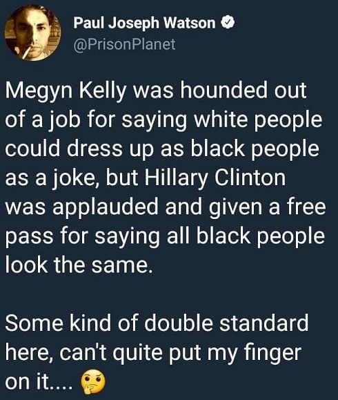 megyn-kelly-fired-for-saying-white-people-could-dress-up-as-black-people-joke-hillary-says-blacks-all-look-alike-doube-standard