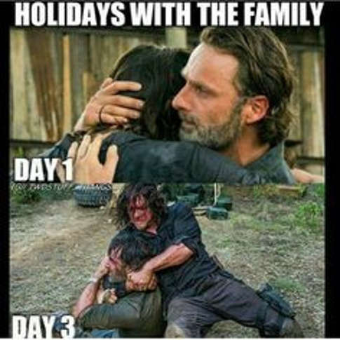 thanksgiving-with-family-day-1-vs-day-3-fighting-walking-dead