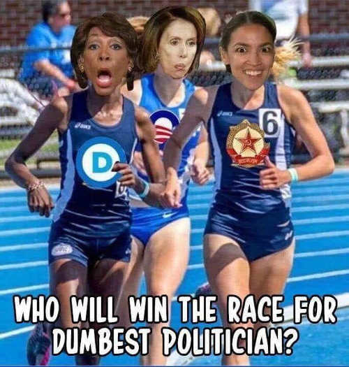 who-will-win-race-for-dumbest-politician-maxine-waters-nancy-pelosi-ocasio-cortez