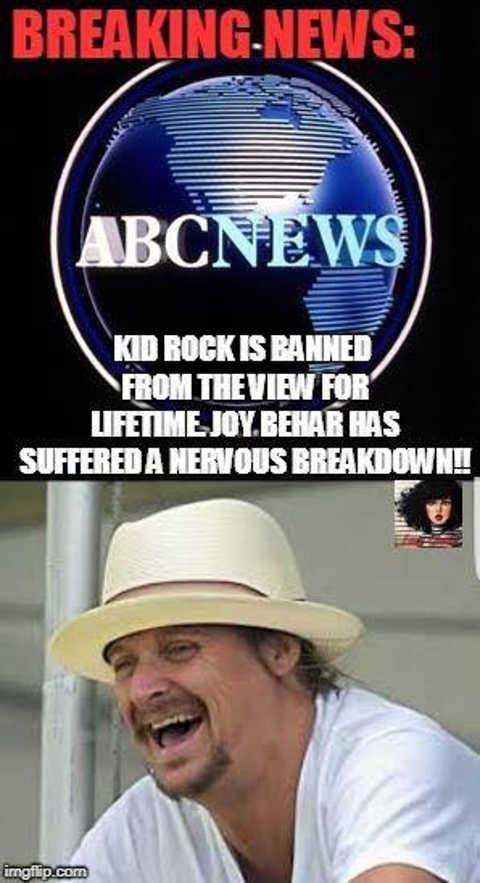 abc news kid rock banned from view joy behar suffered nervous breakdown