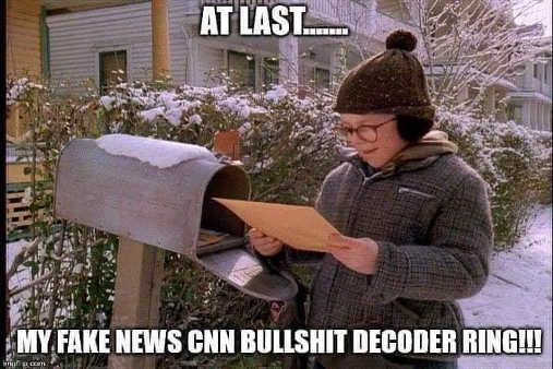 at last fake news cnn bullshit decoder ring raphie mailbox