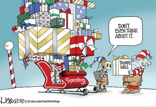 congress government spending santa clause trump wall dont even think about it