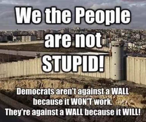 democrats arent against wall because wont work against because it will