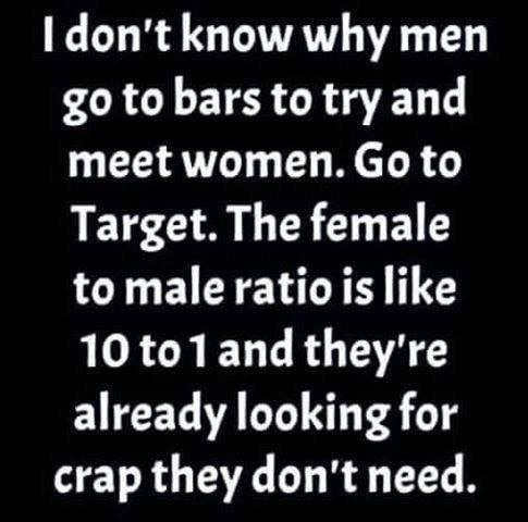 i dont know why women dont meet women at target they already are shopping for shit they dont need