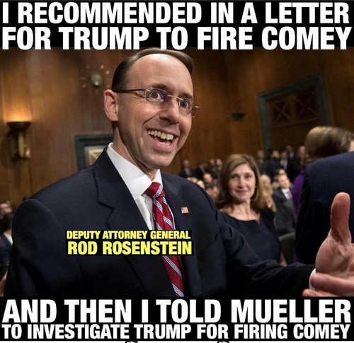 i recommended trump fire comey then called for investigation with mueller rod rosenstein