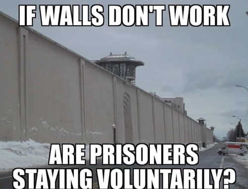 if walls dont work are prisoners staying voluntarily