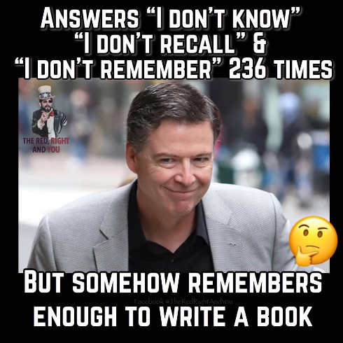 james comey answers i dont remember recall 236 times somehoe remembers enough to write book