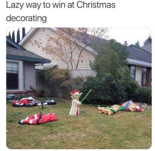 lazy way to win at christmas decorating