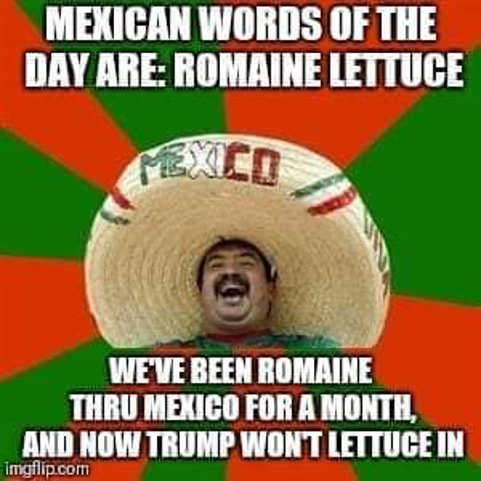 mexican word of day romaine lettuce through mexico for month now trump wont lettuce in