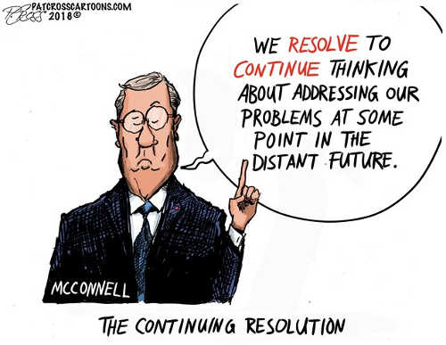 mitch mcconnel we esolve to continue thinking about addressing our problems in distant future