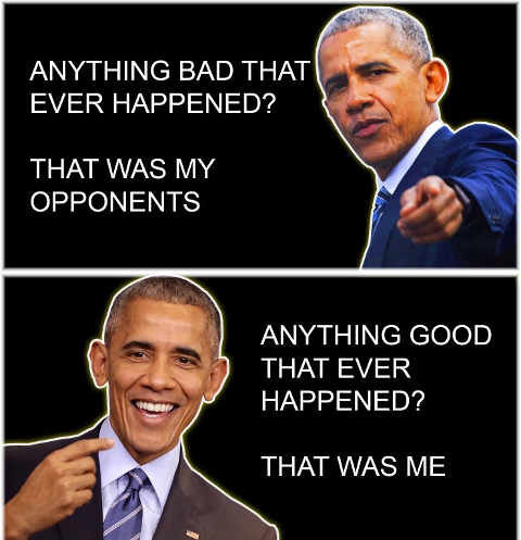 obama everything good that was me everything bad that was my opponents