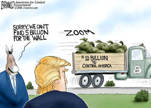 sorry cant find 5 billion for wall trump 10 billion to central america