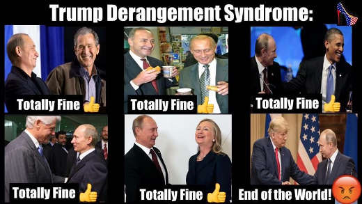 trump derangement syndrome bush clinton schumer obama meet with putin fine