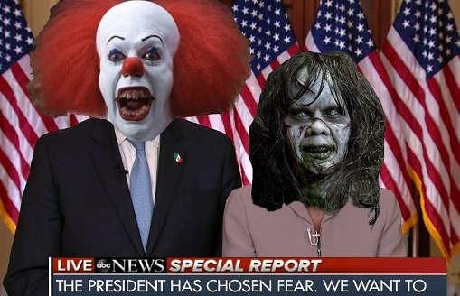 chuck schumer nancy pelosi president has chosen fear it exorcist