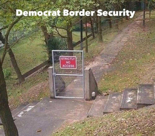 democratic border security no access fence