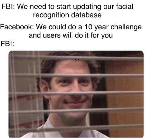 fbi we need up update facial recognition database facebook 10 year challenge