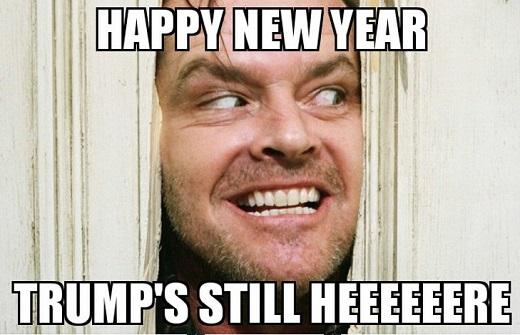 happy new year trumps still hear shining door