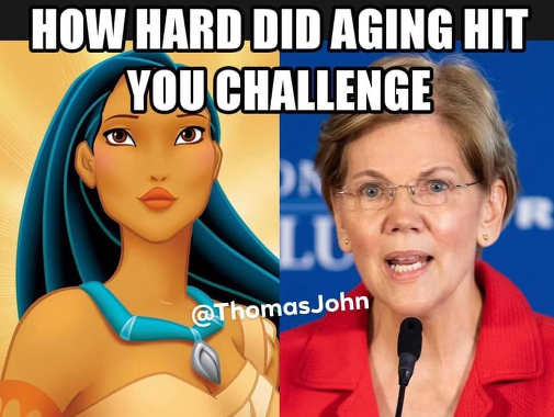 how hard aging hit you pocahantis elizabeth warren