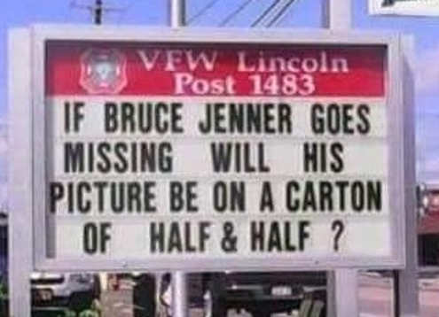 if bruce jenner goes missing on picture of half and half