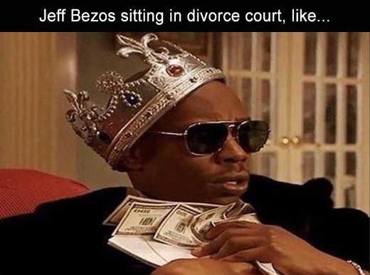 jeff bezos in divorce court hoarding cash