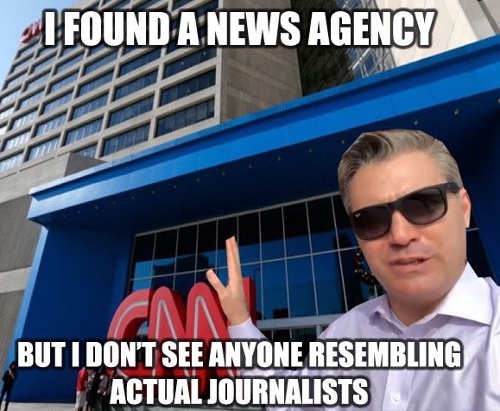 jim acosta i found a news agency but i dont see anyone resembling actual journalists