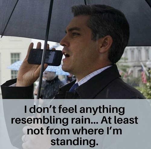 jim acosta not feeling rain from where im standing umbrella