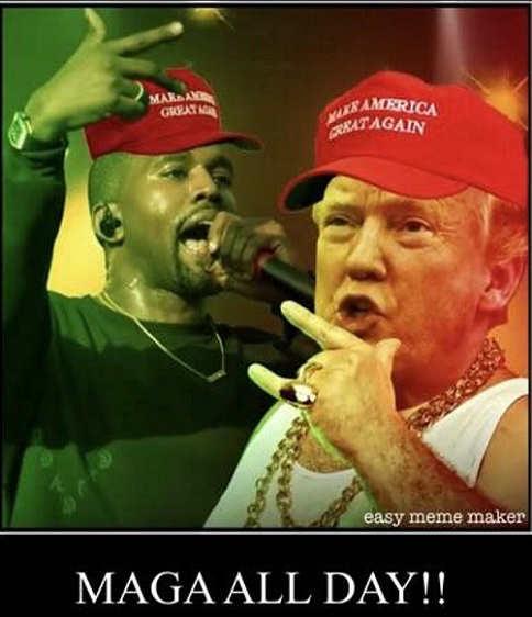kanye west donald trump maga all day make america great again rap