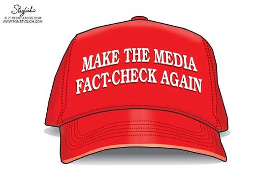 maga hat make the media fact check again