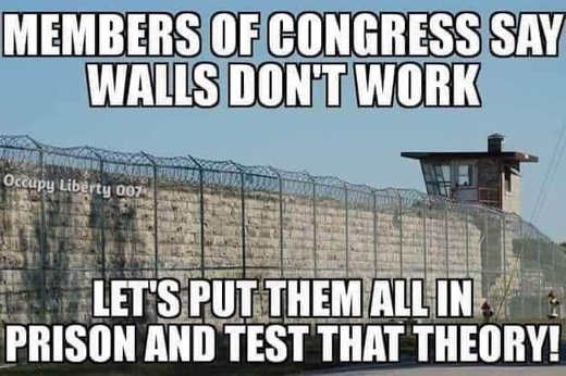 members of congress say walls dont work lets put them all in prison and test that theory