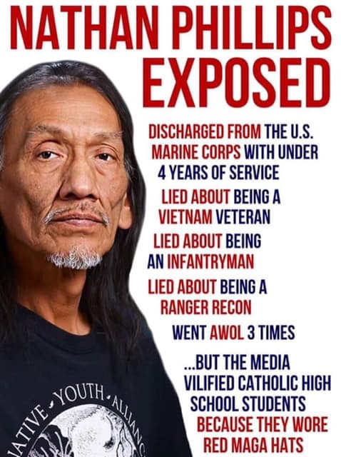 nathan phillips exposed discharged vet lied about vietnam