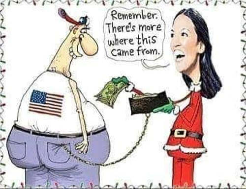 ocasio cortez theres more where that came from stealing from wallet to give