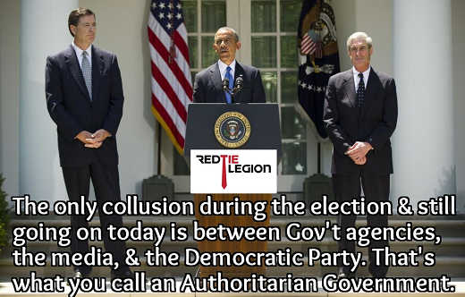 only election collusion government agencies media democratic parties obama mueller comey