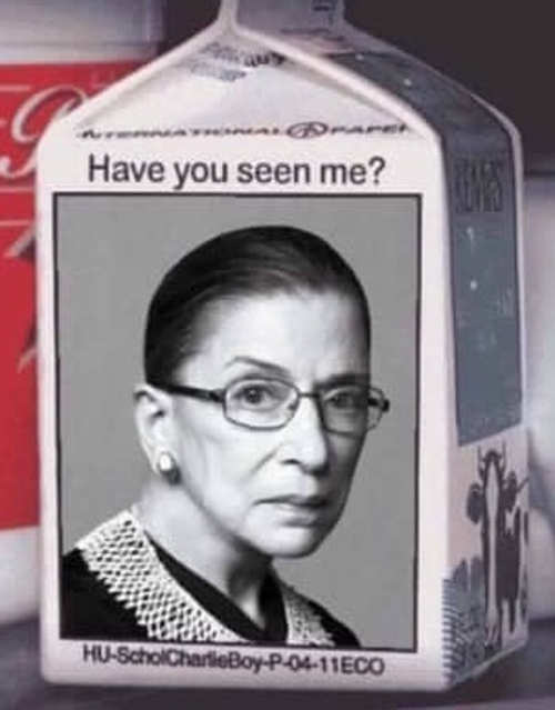 ruth bader ginsburg milk carton have you seen me