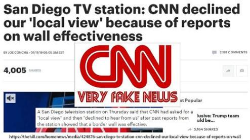 san diego tv station cnn declined local view because of wall effectiveness