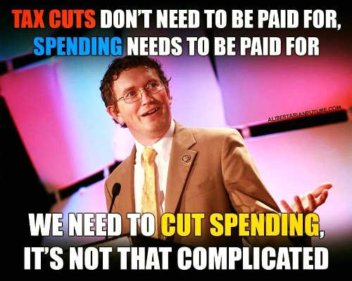 tax cuts dont need to be paid for spending does it is not complicated